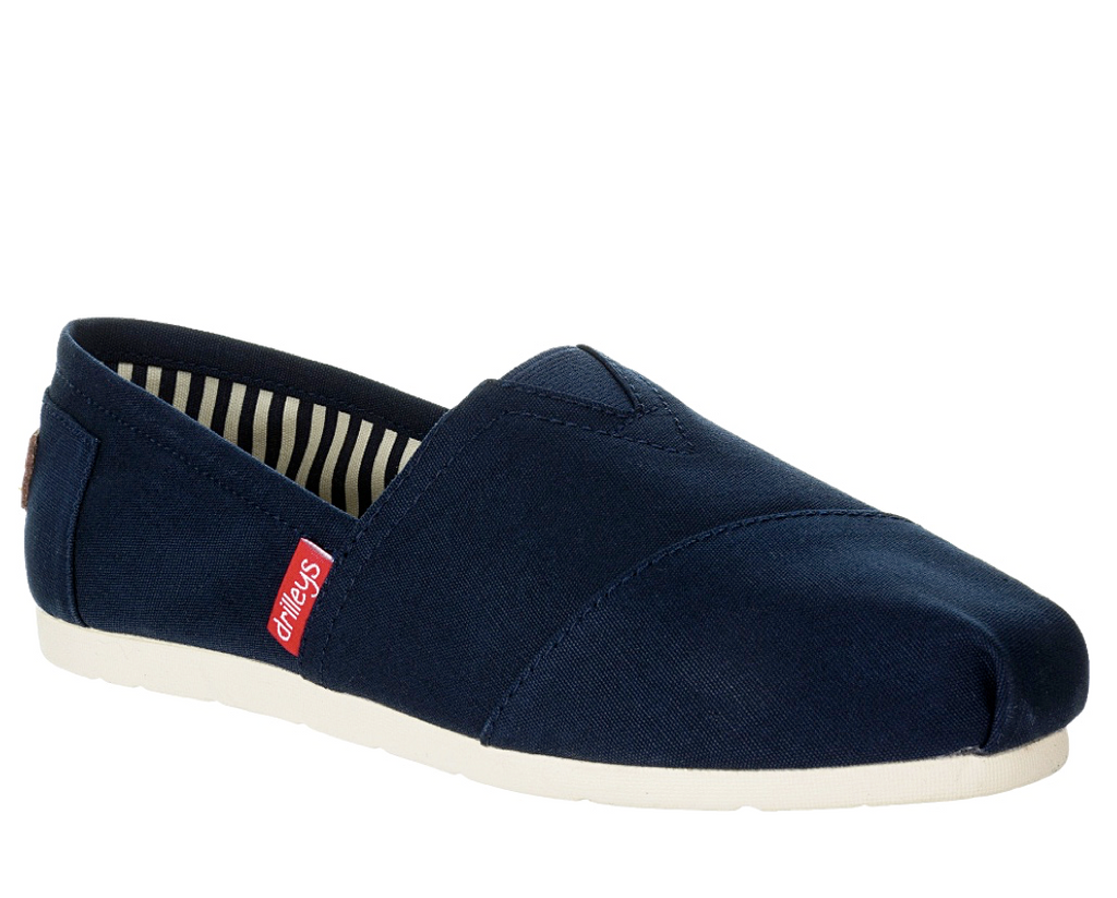 Zanni & Co - Drilley Navy Canvas Shoes