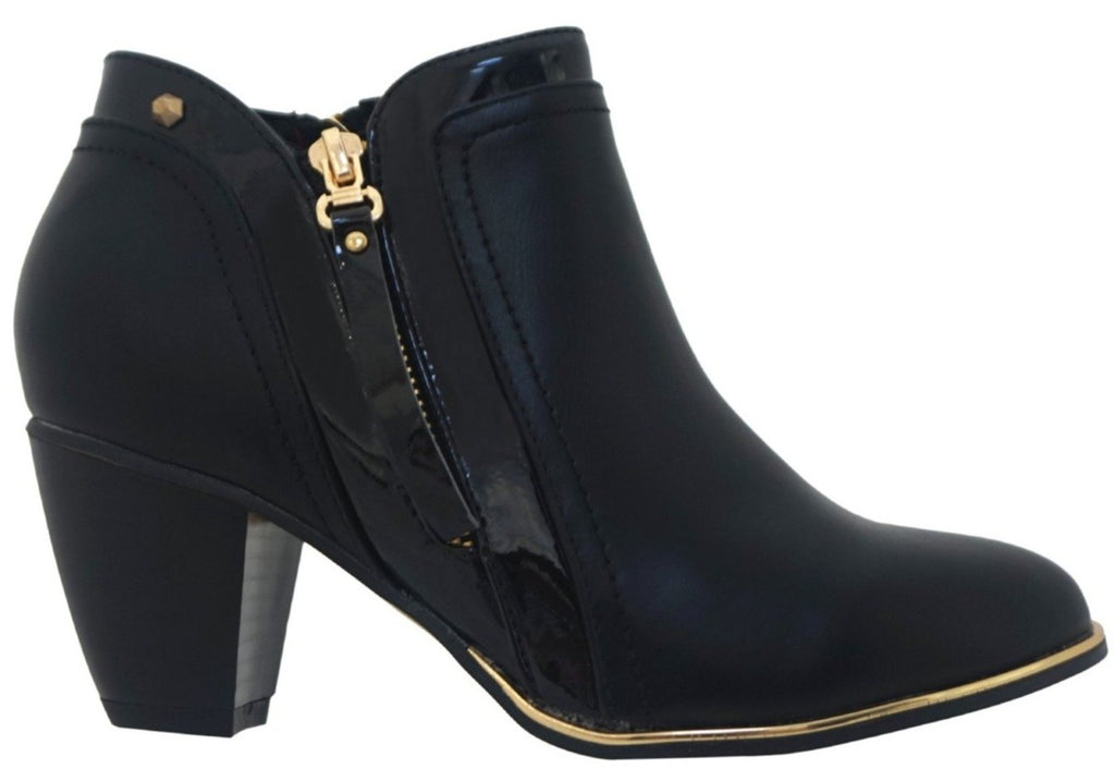Kate Appleyby - Beauly Schwartz Mix Ankle Boots