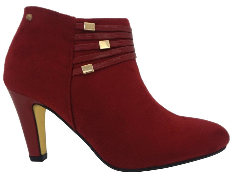 Kate Appleby - Colburn Red Suede Ankle Boots