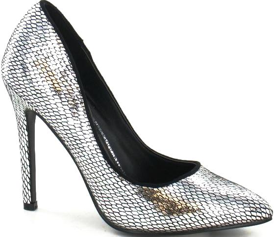 Kidderminster - F9590 Silver Court Shoes