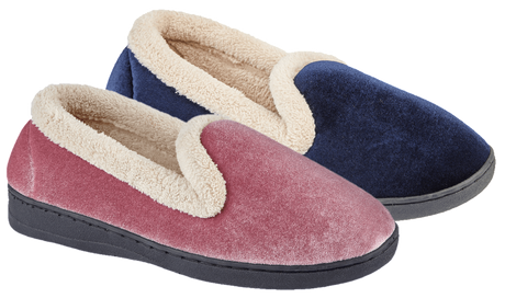 LJ&R - Cashmere Navy Slippers
