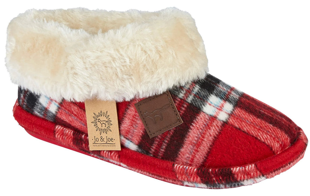 LJ&R - Glenroyal Red Tartan Slippers