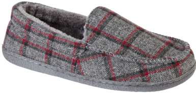 LJ&R - Glentaisie Grey Tartan Slippers
