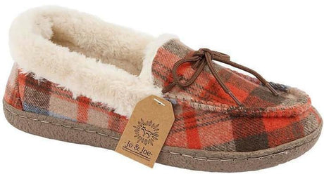 LJ&R - Pembroke Brown/Tartan Slippers
