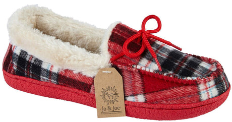 LJ&R - Pembroke Red/Tartan Slippers