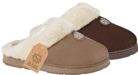 LJ&R - Snuggle Brown Slippers