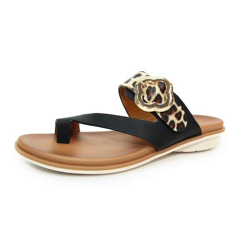 Lunar - Larkin Black Sandals