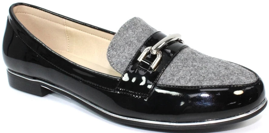 Lunar - Antonella Black/Grey Shoes