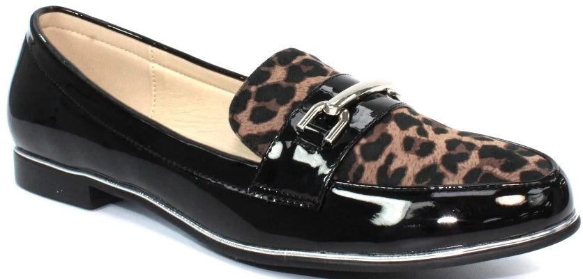 Lunar - Antonella Black/Leopard Shoes