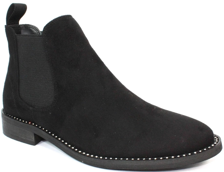 Lunar - Carrera Black Ankle Boots