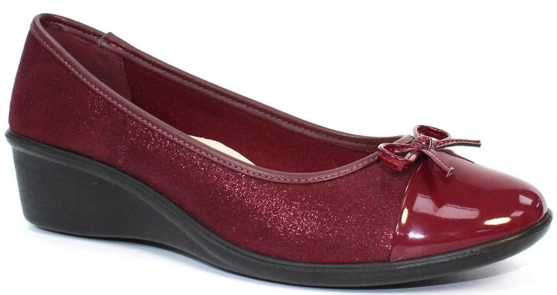 Lunar - Meg Burgundy Shoes