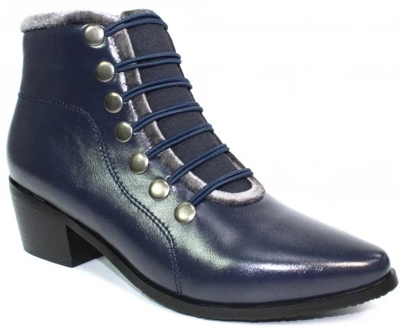 Lunar - Napoleon II Navy Ankle Boots