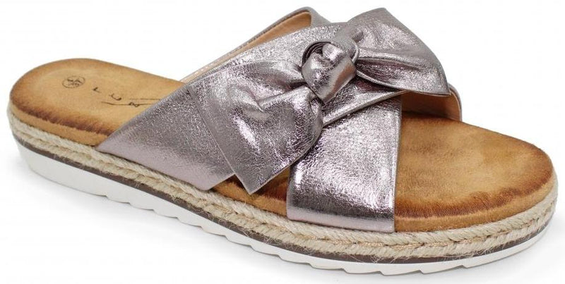 Lunar - Rico Pewter Sandals