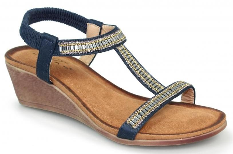 Lunar - Tabitha Navy Sandals
