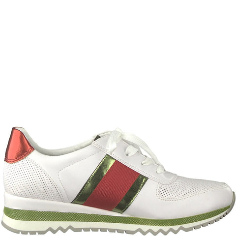 Marco Tozzi - 23735 White/Green/Red Runners