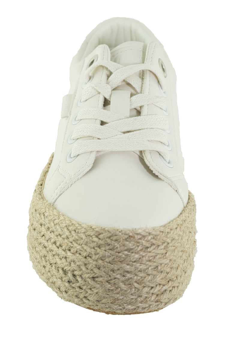 Mustang - 69492 White Canvas Shoes