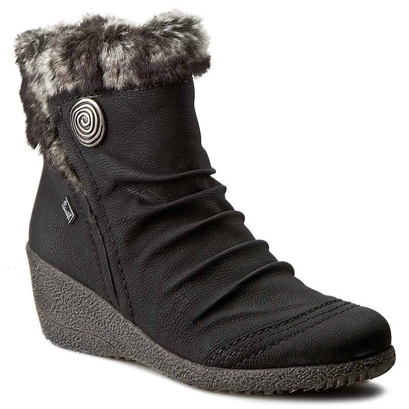 Rieker - Y0363 Black Granite Ankle Boots (AW20)