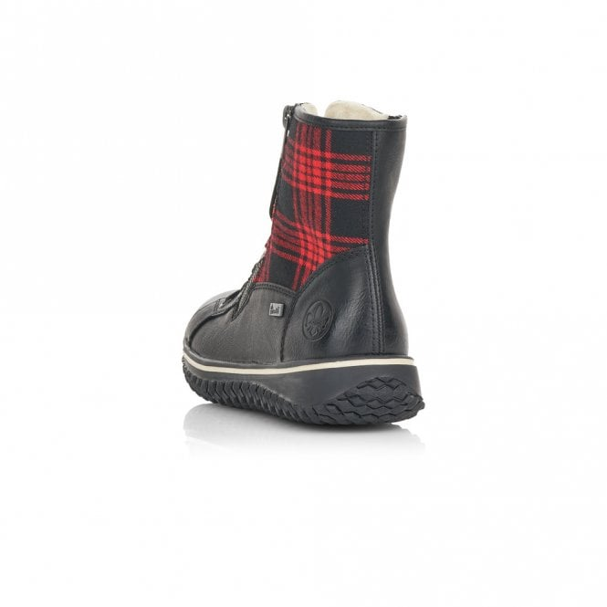 Rieker - Z4210 Black/Red Ankle Boots