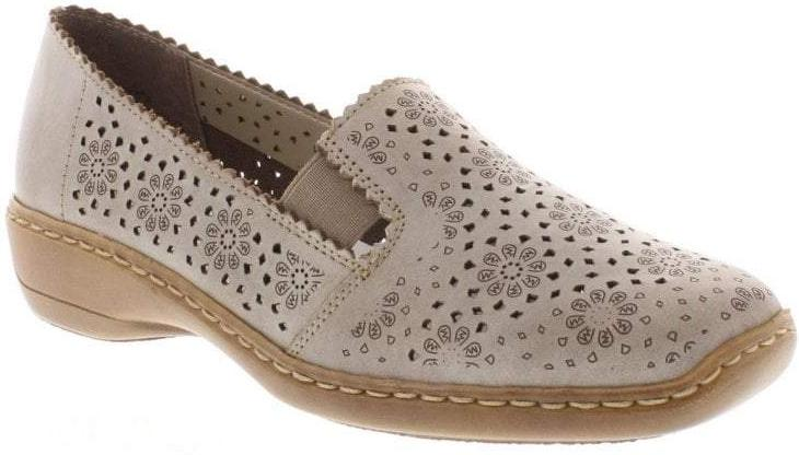 Rieker - 413Q5 Beige Shoes (don't publish - last pair left is in clonmel)