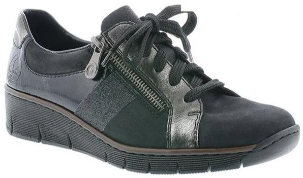Rieker - 53713 Black/Silver Shoes