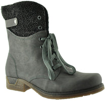 Rieker - 79604 Grey Lace Boots