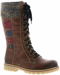 Rieker - Z1443 Brandy Brown Lace Boots