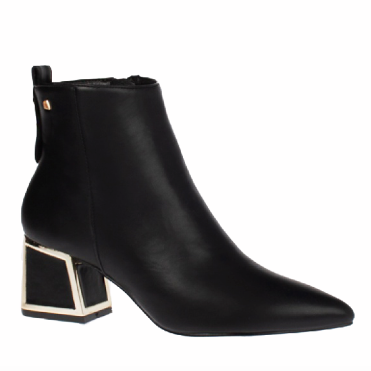 Bourbon Amy Huberman - Showboat Noir Ankle Boots