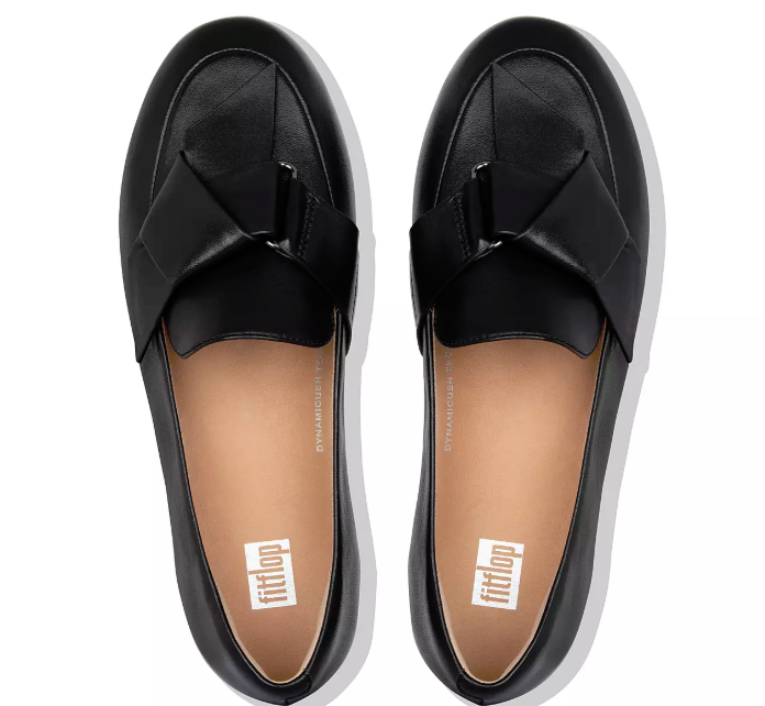 FitFlop - Lena Knot Loafer Black Shoes
