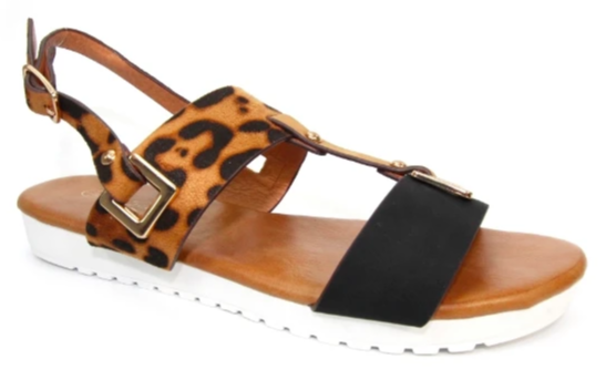 Lunar - Almond Ocelot Sandals