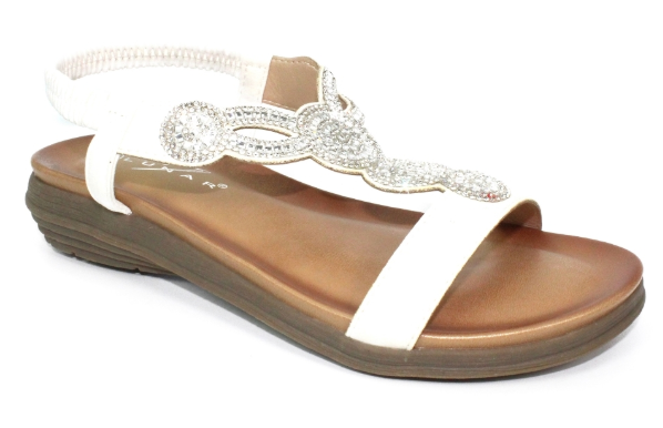 Lunar - Bondi White Sandals