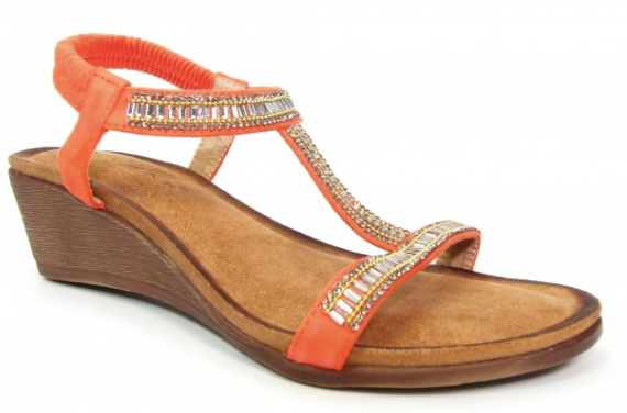 Lunar - Tabitha Orange Sandals
