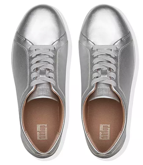 FitFlop - Rally Silver Sneaker Shoes