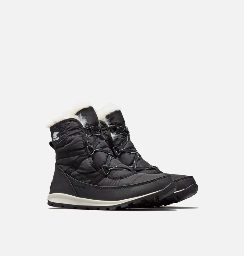 Sorel - Whitney Short Lace Black Ankle Boots