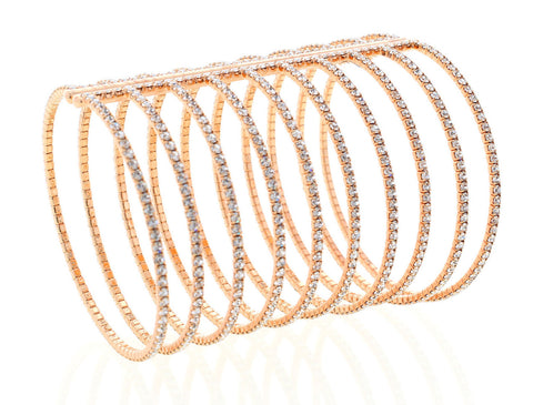 Nour London - Double Gap Rose Gold Bangle