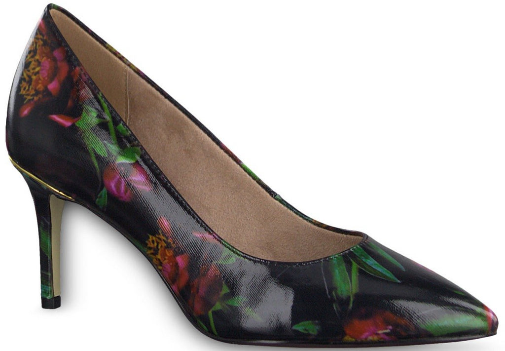 Tamaris - 22421 Black/Flower Shoes