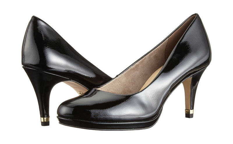 Tamaris - 22444 Black/Patent Court Shoes