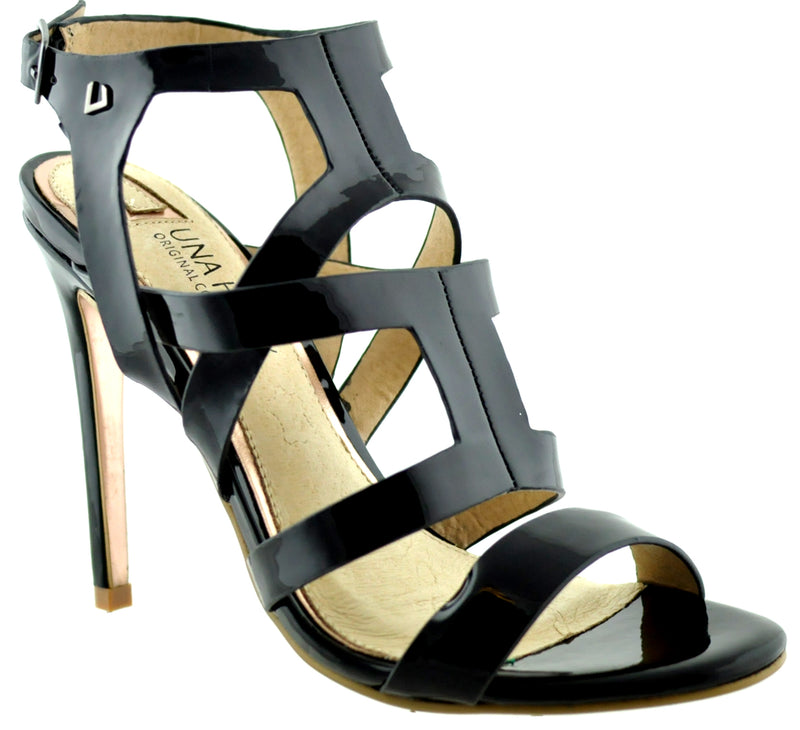Una Healy - Battle Lines Vinyl Black Sandals
