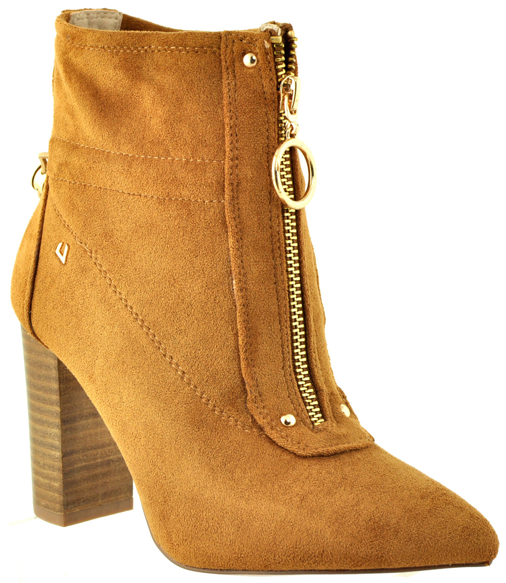 Una Healy - Pure Shores Hazelnut Ankle Boots