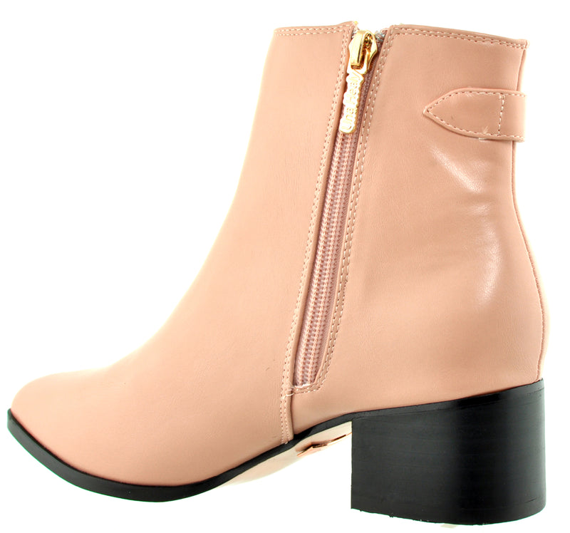 Una Healy - Use Your Heart Pink Ankle Boots