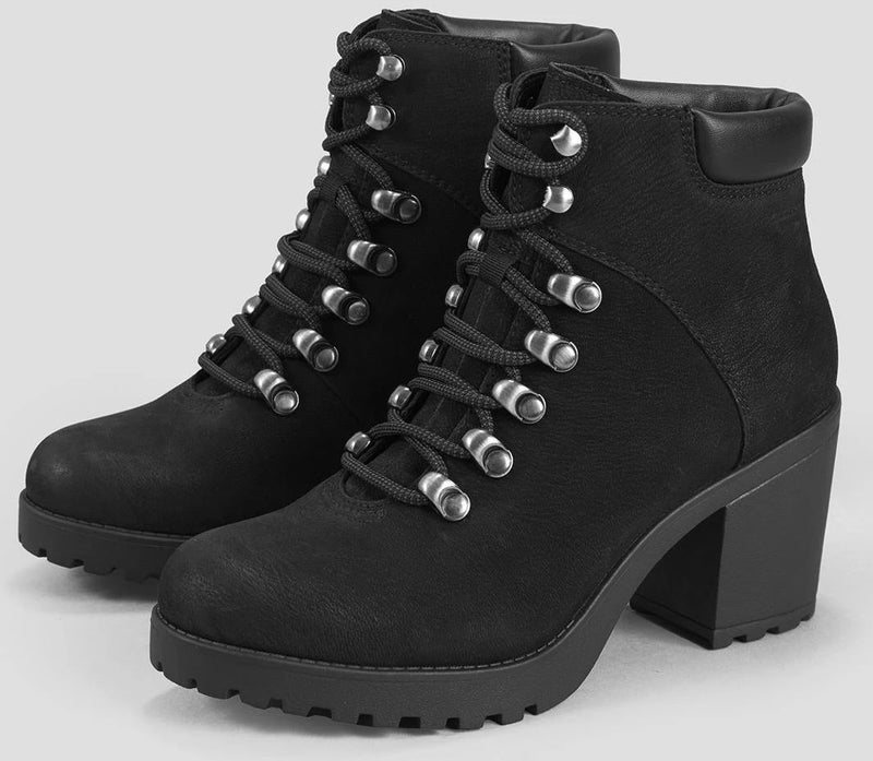 Vagabond - Grace Black Lace-up Ankle Boots (4658-050)