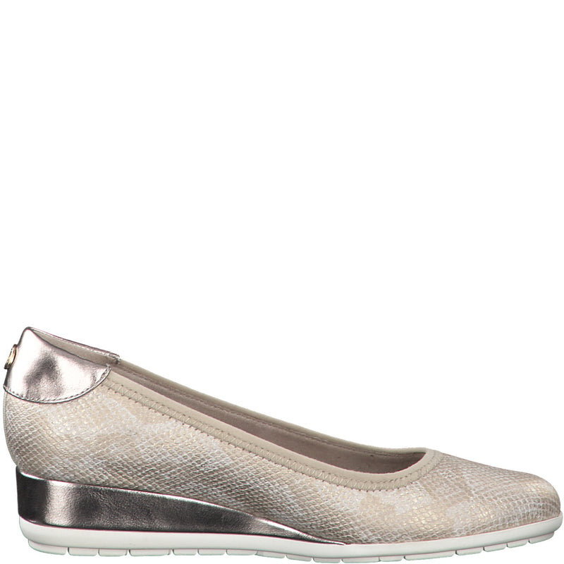 S.Oliver - 22302 Champagne Combination Wedges
