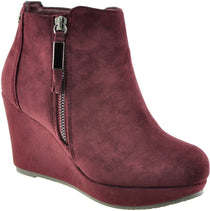 XTi - 34219 Burgundy Ankle Boots