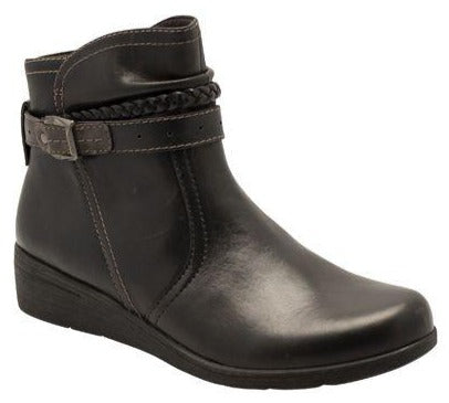 Earth Spirit - Jupiter Black Ankle Boots