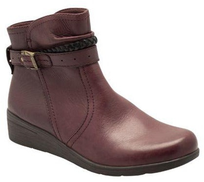 Earth Spirit - Jupiter Rich Plum Ankle Boots