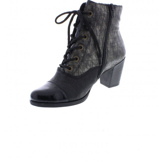 Rieker - Y8938 Black/Silver Ankle Boots