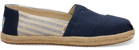 Toms - Classic Navy Ivy League Stripes Canvas Shoes