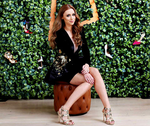 Una Healy - Battle Lines Speck Silver Sandals