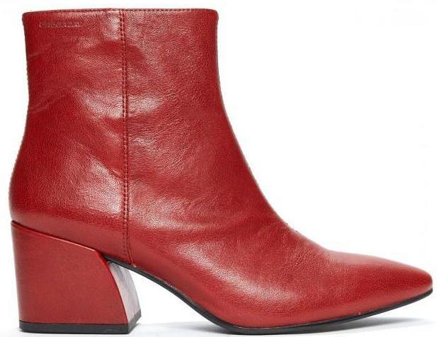 Vagabond - Olivia Red/Leather Ankle Boots (4217-001)