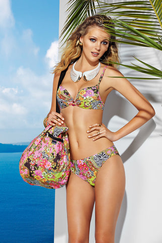 Multi Colored Beach Bag by Basmar