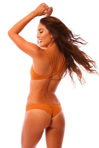 BURNT ORANGE & NUDE REVERSIBLE KAI BOTTOMS